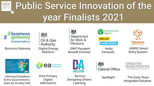 Public Service Innovation of the year Finalists 2021